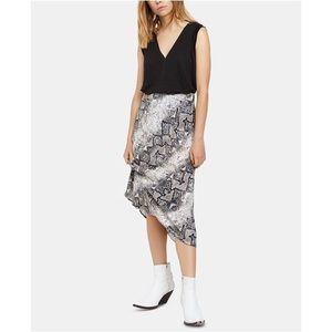 Sanctuary Everyday Snake Print Gray Midi Skirt
